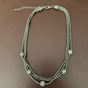 Silver metal and c.z. Lia Sophia necklace